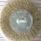 "4 "" Brass Wire Wheel Brush with 1/4"" shaft"