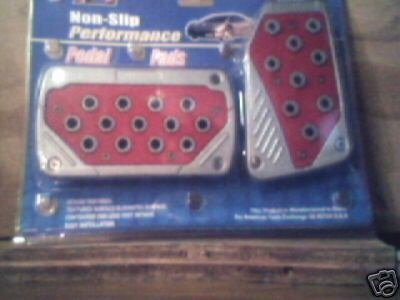 2 pc Red Pedal Pads