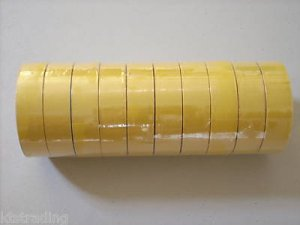10 rolls of yellow color vinyl electric tape