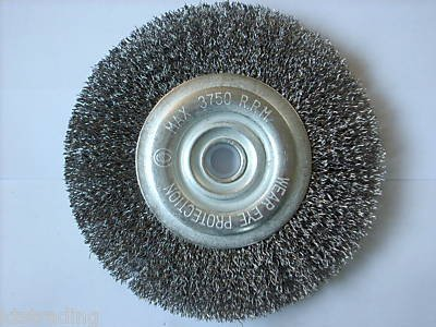 "6 "" Wire Wheel Brush with 1/2"" hole"