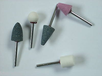 "5 pc Mounted Stone - 1/8"" shank"