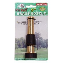 "5"" WATER HOSE BRASS NOZZLE"