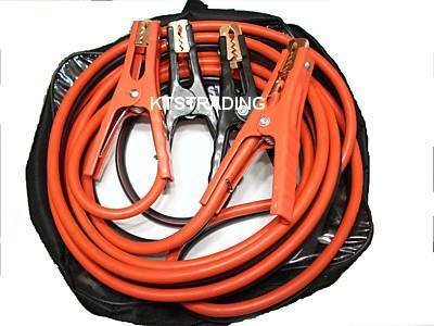 heavy duty booster jump cable - 6 gauge x 16 ft