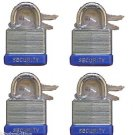 "30 mm Padlock- 4 pc keyed alike - 1"" padlocks"