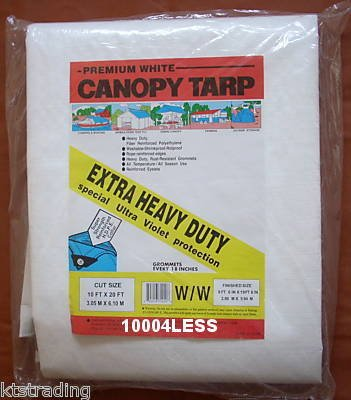 10x10 HEAVY DUTY WHITE TARP