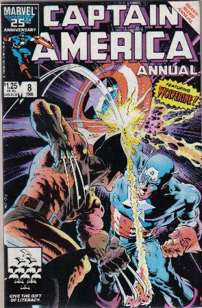 Captain America Annual #8 Comic Book