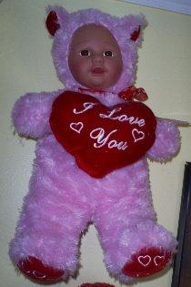 Kostume Kids Pink Bear