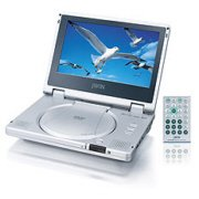 SUPER LIGHT WEIGHT PORTABLE PROGRESSIVE SCAN 8 inch TFT LCD COLOR DISPLAY DVD PLAYER