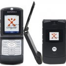 MOTOROLA RAZR V3 ULTRA THIN UNLOCKED GSM QUABAND CAMERA CELL PHONE   BLACK