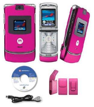 Motorola  Razr V3 Pink Slim Camera Phone Unlocked GSM