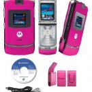 Motorola  Razr V3 Pink Slim Camera Phone Unlocked GSM