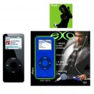 Ipod Nano 1GB Black - 240 Songs in Your Pocket + Exo Nano Combo