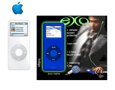 Ipod Nano 2GB White - 500 Songs in Your Pocket + Exo Nano Combo
