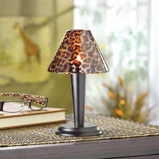 LEOPARD PRINT TEALIGHT LAMP