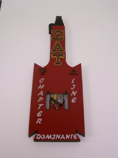 Fraternity / Sorority Custom Shape Paddle