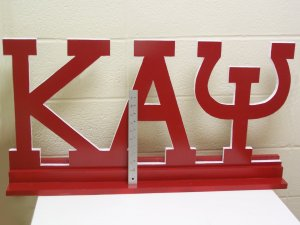 """Fraternity / Sorority Large Letters with Stand (36"""")"""