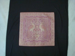 100% Handmade Banarasi Silk Pillow Covers - Pink