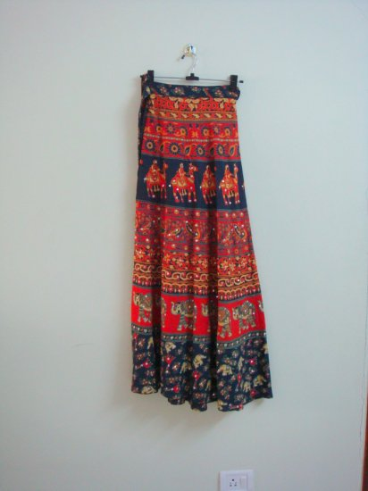 Cool Bohemian Rajastani 100% Handmade Wrap Around Skirt - One Size Fits All
