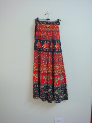 Cool Bohemian Rajastani 100% Handmade Wrap Around Skirt - One Size Fits All