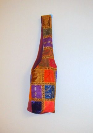 Funky Embroidered Thread Work Shoulder Bag with old saree Patch Work
