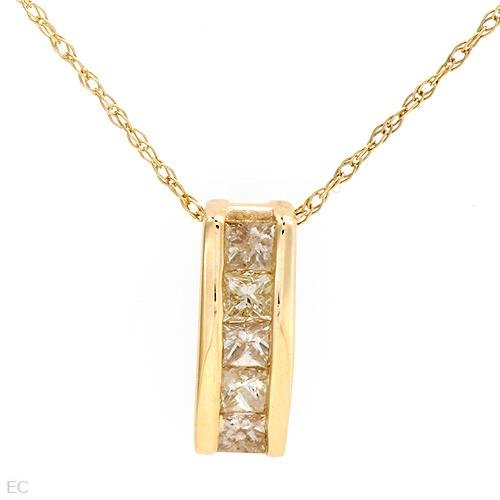 .40 ctw Majestic Princess Cut Diamond Necklace