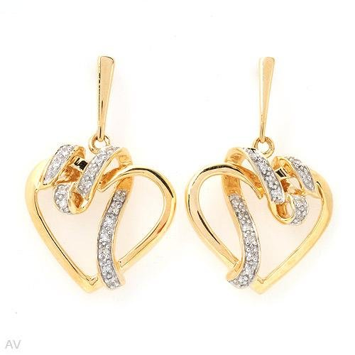 Majestic Heart Shaped Earrings With Diamonds