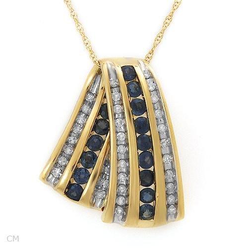 1.00 ctw Majestic Diamond & Sapphire Necklace Pendant