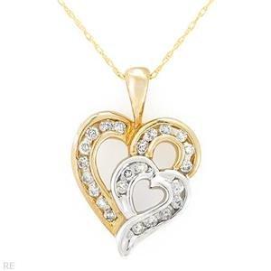 .50 ctw Stylish Heart Shaped Diamond Necklace Pendant