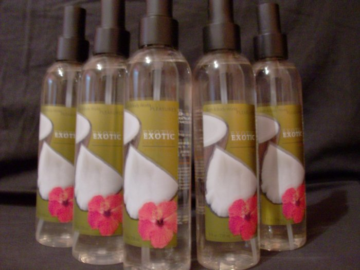 6 Bath & Body Works Exotic Coconut Spray Mist Fast Ship