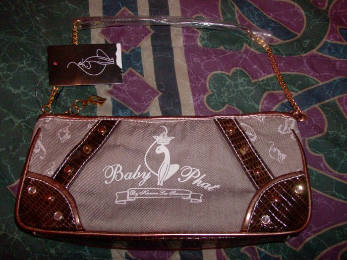 NWT Baby Phat Tan and Brown Purse with Studs Rare