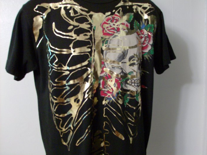 NWT Rare Authentic Ed Hardy Skull and Roses Shirt Sz M