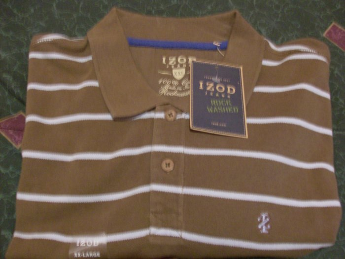 NWT IZOD Brown Golf Polo Rock Shirt Size 2X XXL New