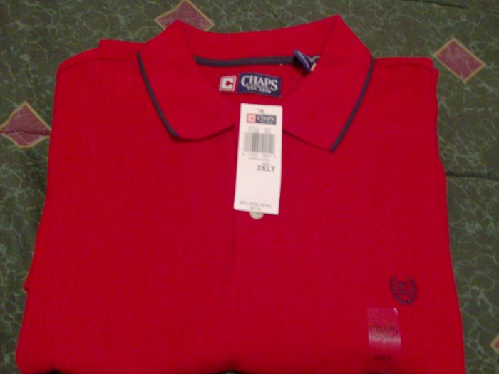 NWT Chaps Golf Polo Shirt 2X Big & Tall Ralph Lauren