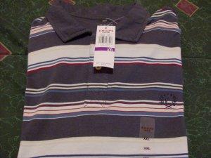 NWT Chaps Golf Polo Stripped Shirt Sz 2X Ralph Lauren