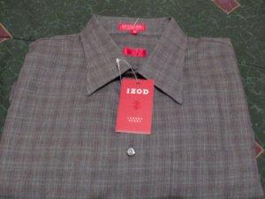 NWT Izod Gray Striped Dress Shirt Size 2X, XX New