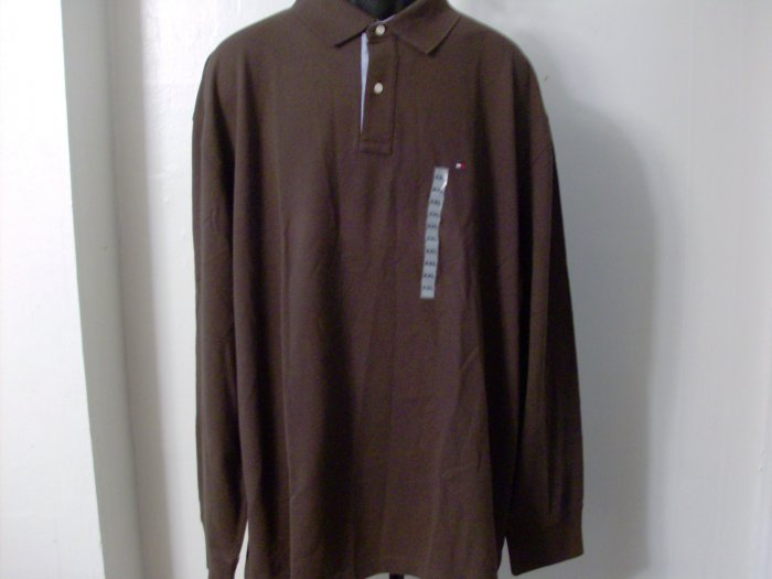NWT Tommy Hilfiger Chocolate Polo Shirt Authentic L