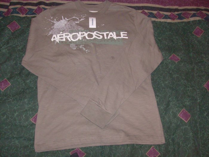 NWT Men's Aeropostale Olive Long Sleeve Shirt Sz. M