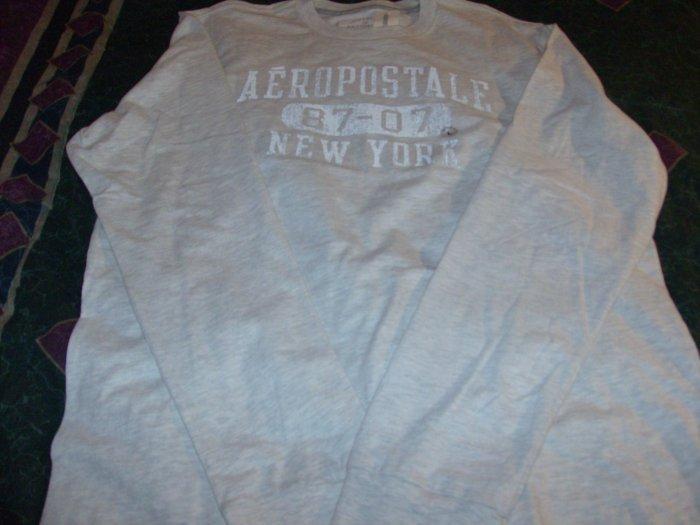 NWT Men's Aeropostale Tan Long Sleeve Shirt Sz. L