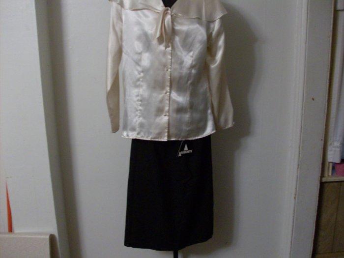 NWT Professional Black Long Argenti Skirt Sz 10