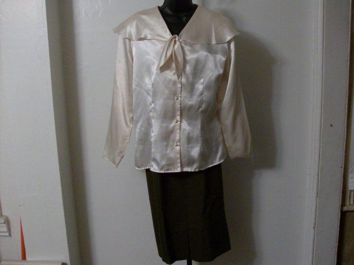 NWT Professional Olive Long Worthingtone Skirt Sz 12P