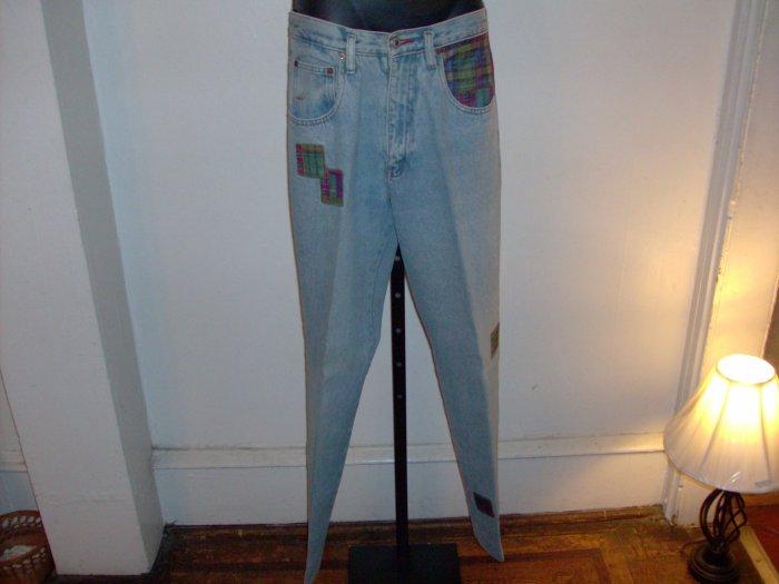 Women's Patchwork Quilt Zanadi Blue Jeans Size 11/12