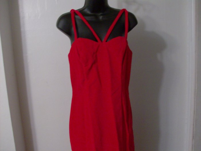 Women's Guess Red Spaghetti Strap Dress SZ.11