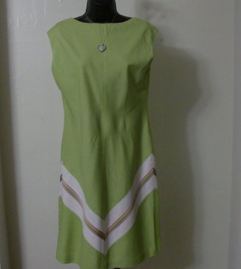 Liz Claiborne Green Summer Stripe Dress