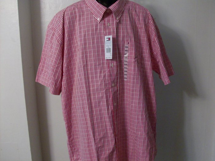 NWT Tommy Hilfiger Stiped Red and White  Shirt Size 2X