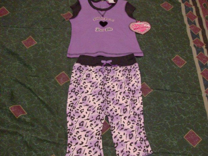 NWT Purple Only Girls Short & Shirt Set 6-9 month