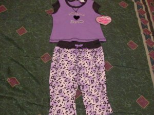 NWT Purple Only Girls Short & Shirt Set 6-9 month