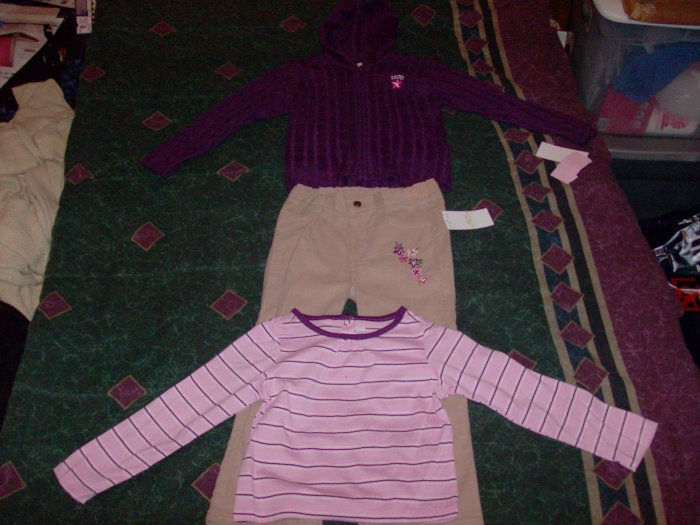 NWT Adorable IZOD Pants Shirt and Hoodie Sweater Set