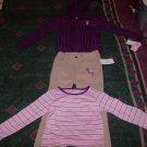 NWT Adorable IZOD Pants Shirt and Hoodie Sweater Set