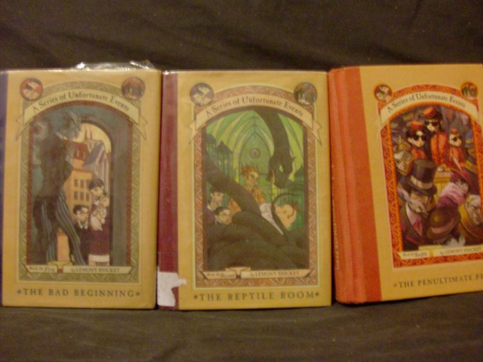 A Series of Unfortunate Events Books 1, 2, and 12