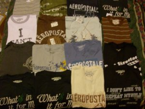 Lot of 30 Aeropostale Men's T-Shirts